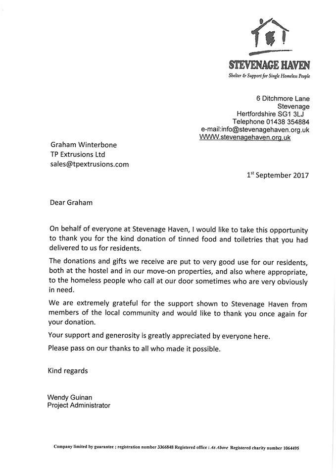 Stevenage Haven - Shelter & support for the homelss