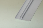 We often design custom plastic extrusions that clip on to metal profiles, and this is a good example.