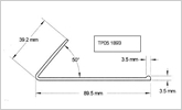 TP05 1893 50 degree plastic angle