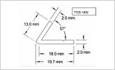 TP05 1906 57 degree plastic angle