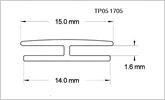 1.6mm H section