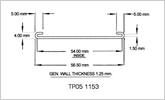 51mm C section ticket strip with rounded ends